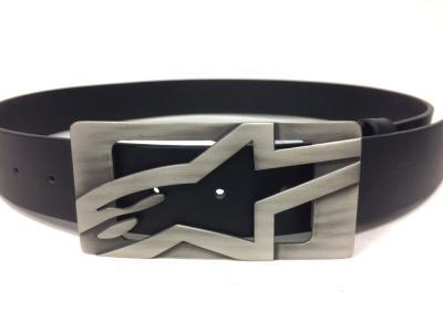 Cinturón Alpinestars de piel color Titanium-negro talla S