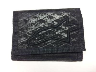 Billetero Alpinestars de color negro con escudo bordado
