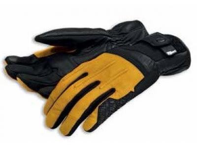 Guantes piel Street Master C2. Negro-amarillo