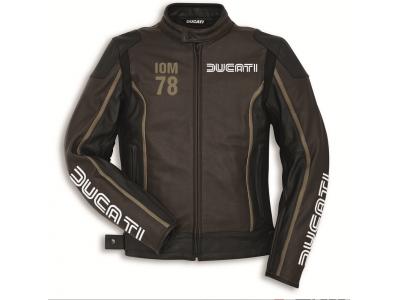 Chaqueta Ducati Iom78 C1 piel negro/marrón