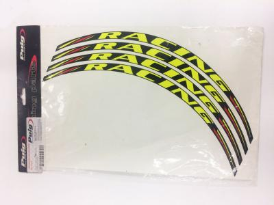 Jgo. 4 tiras en arco Racing color fluor