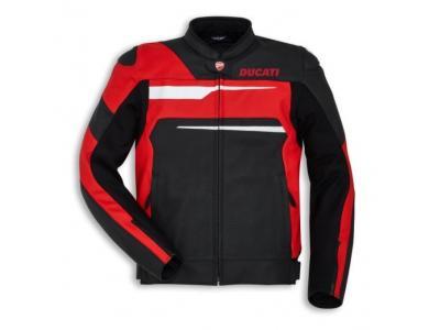 Chaqueta Ducati Speed Evo C1 piel negro/rojo hombre